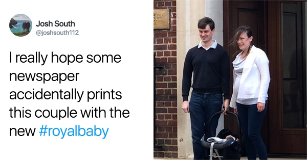 New Parents Get Some Unexpected Attention From The Press Outside London Hospital