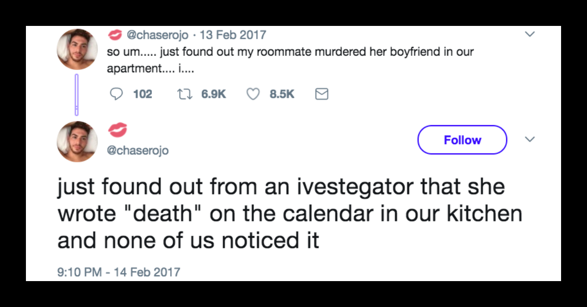 This Guy Live-Tweeted A Murder In His Apartment