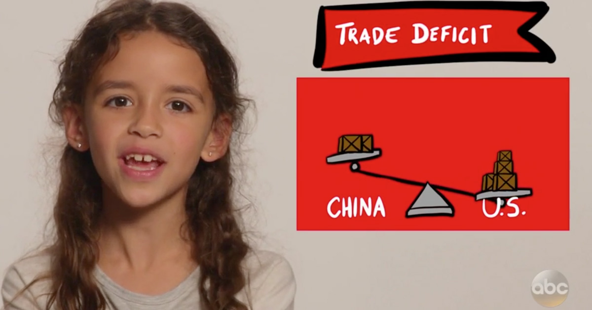 A Second Grader Explained Trade Deficits Better Than President Trump