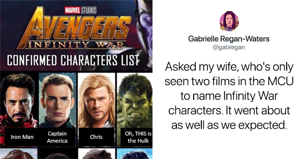 Woman's Attempt To Name The Avengers After Only Having Seen Two Marvel Films Goes South Quickly