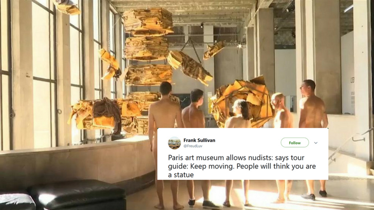 Paris Museum Becomes City's First To Hold Tour For Large Group Of Nudists