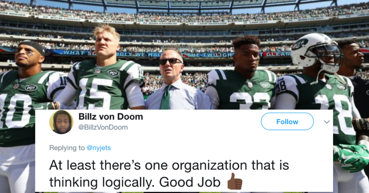 Chairman Of The New York Jets Says He Won't Fine Players For Protesting The National Anthem