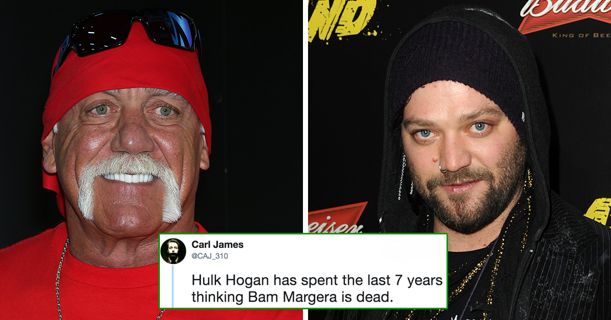 Hulk Hogan Mistakenly Tweeted About Bam Margera Dying And Twitter Is Cracking Up