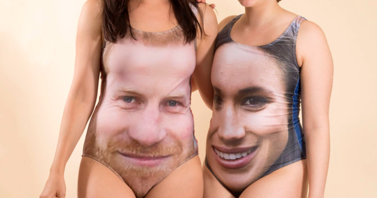 Welp, Prince Harry And Meghan Markle Bathing Suits Are A Thing You Can Buy Now