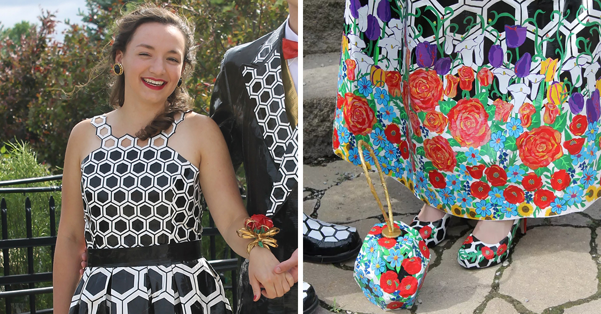 Teen Wins $10,000 For Making Prom Dress Completely Out Of Duct Tape