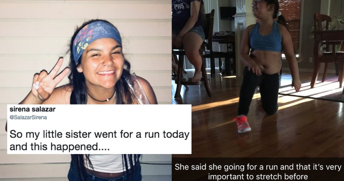 A Girl Live Tweeted Her Little Sister's First Time Running And The Internet Is Dying Laughing