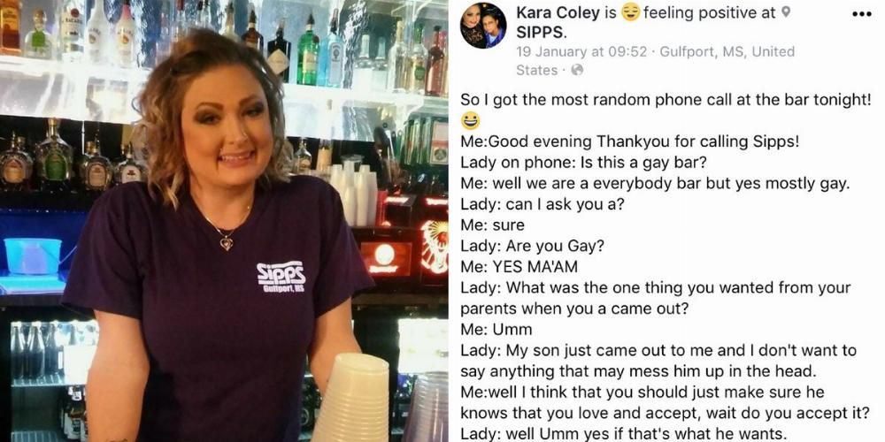 Mom Calls Up Gay Bar Asking For Advice After Her Son Came Out. They Delivered.