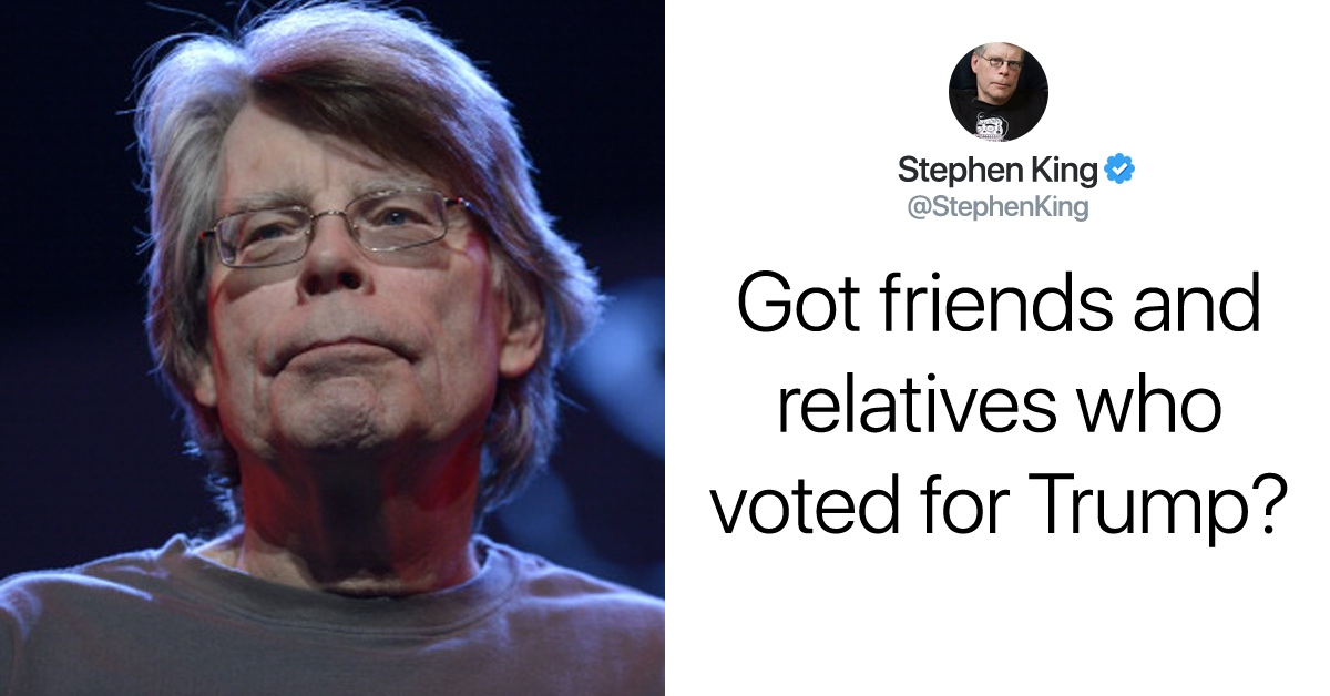 Stephen King Offers Some Key Advice For Dealing With Trump Supporters