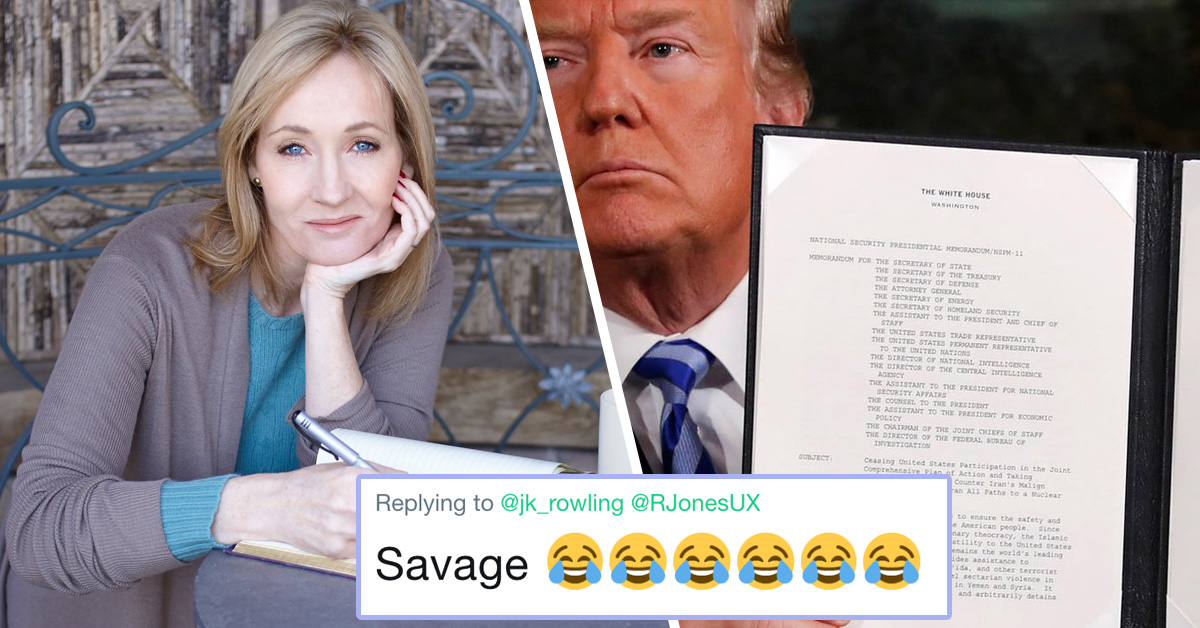 J.K. Rowling Just Took A Shady Swipe At Trump By Mocking His Oversized Handwriting