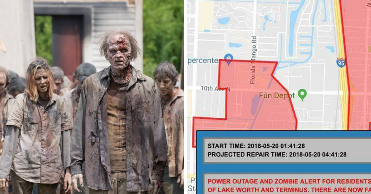 Florida City Freaks Out Its Citizens With An 'Extreme Zombie Activity' Alert During Power Outage