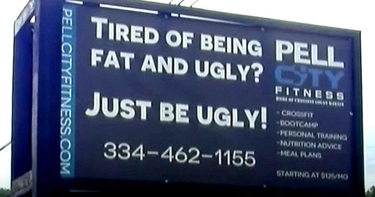 Gym Billboard Goes Viral For Promising To Help 'Fat And Ugly' People